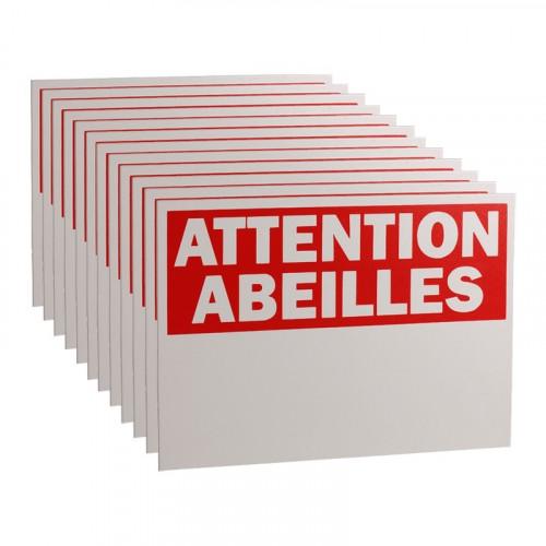 12 Panneaux Attention Abeilles