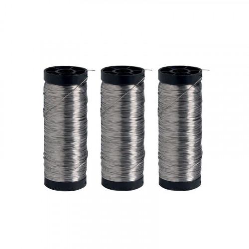 3 bobines de 250 g de fil inox