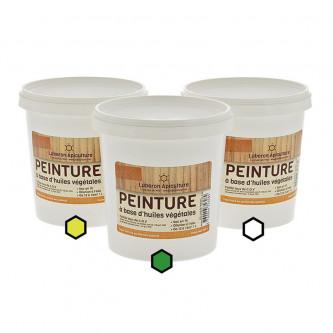 Pack Acidulé : 3 pots de peinture (citron, vert, blanc)