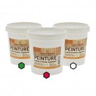 Pack Bourgogne : 3 pots de peinture (bordeaux, vert, blanc)