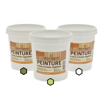 Pack Estival : 3 pots de peinture (olive, anis, blanc)