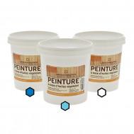 Pack Marin : 3 pots de peinture (bleu, azur, blanc)