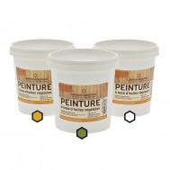 Pack Méditerranée : 3 pots de peinture (ocre, olive, blanc)