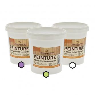Pack Provence : 3 pots de peinture (lavande, anis, blanc)