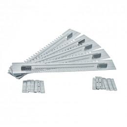 5 portières d'entrée 380 mm avec guide
