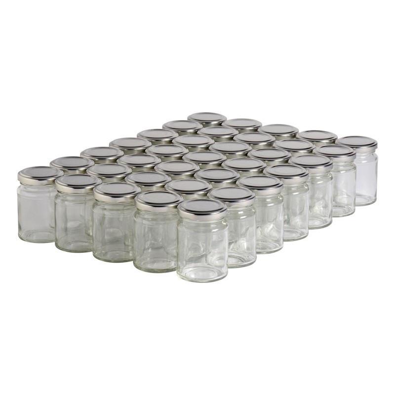 35 pots verre droits 125g...