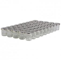 45 pots verre facettes 50g (44 ml) avec couvercle TO 48