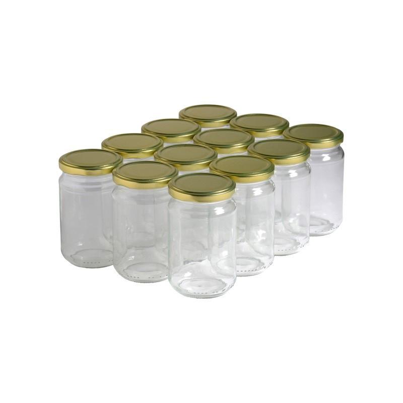 12 pots verre 400g (318 ml)...