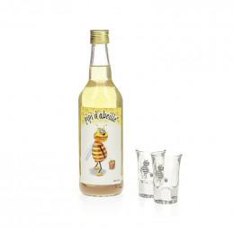 Coffret Pipi d'Abeille 50 cl  + 2 verres