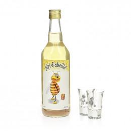 Coffret Pipi d'Abeille 70 cl  + 2 verres