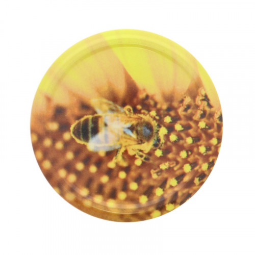 25 couvercles Twist Off Abeille / Pollen TO 82