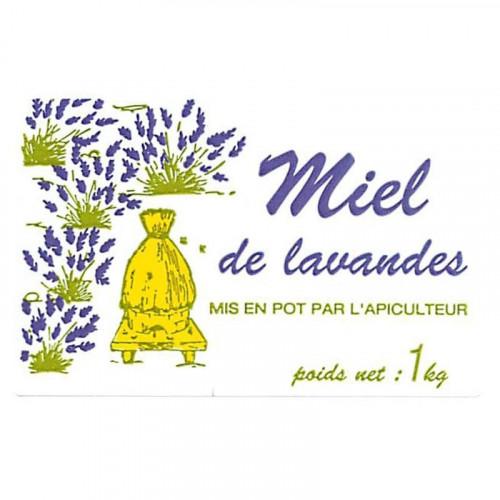 """2000 étiquettes """"Miel de Lavandes"""" 1kg (50x80)"""