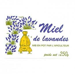 """2500 étiquettes """"Miel de Lavandes"""" 250g (64x40)"""
