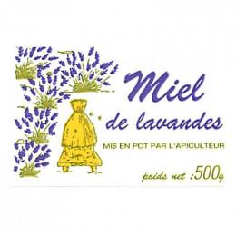 """100 étiquettes """"Miel de Lavandes"""" 500 g (64x40)"""