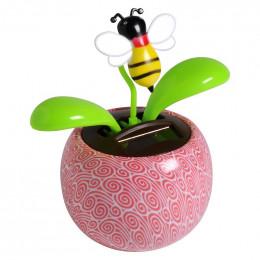 Fleur solaire abeille
