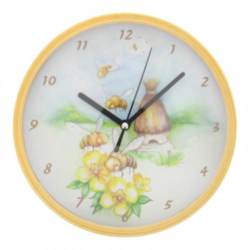 Horloge abeilles et fleurs
