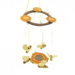 Mobile abeilles & fleurs en bois