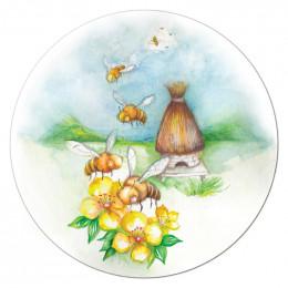 Tapis de souris abeilles et fleurs