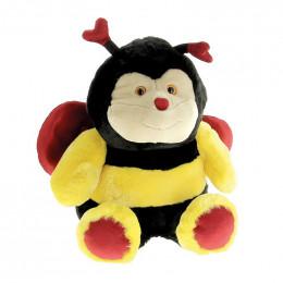 Peluche abeille avec des coeurs 45 cm