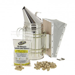 Enfumoir inox type américain + 1,5 kg de combustible + 100 allumeurs