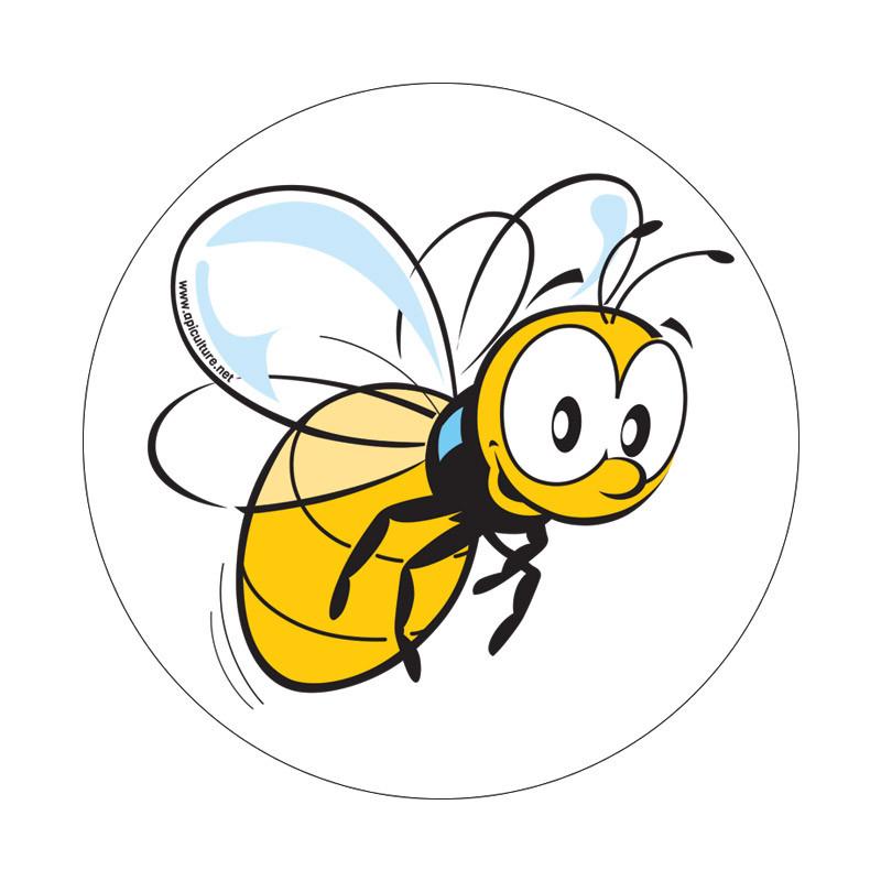 6 autocollants abeille...
