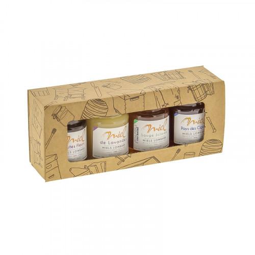 Coffret de dégustation de miel - 4 x 125g