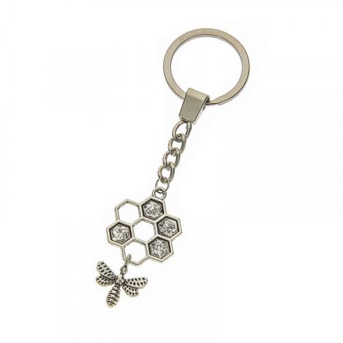 Porte-clés alvéoles abeille