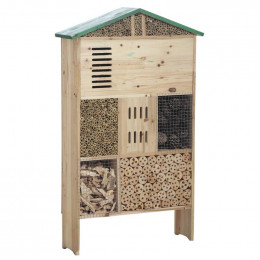 Hôtel à insectes bois 100 cm
