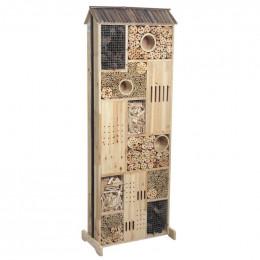 Hôtel à insectes double face bois 145 cm