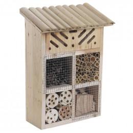 Hôtel à insectes bois 28 cm
