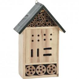 Hôtel à insectes bois 30 cm