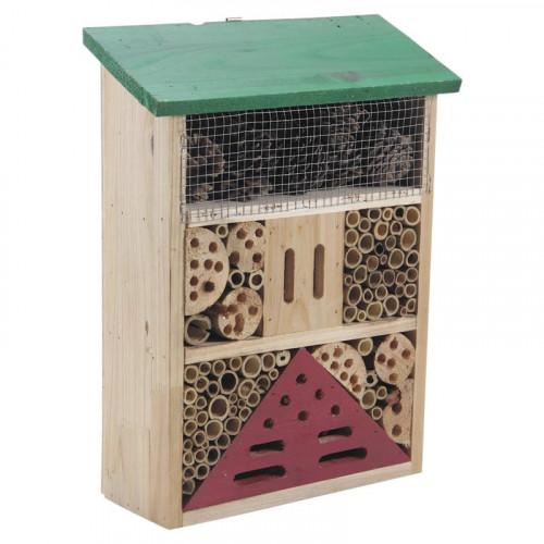 Hôtel à insectes bois 36 cm