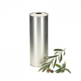 20 bidons metal argent pour huile d'olive 75cl