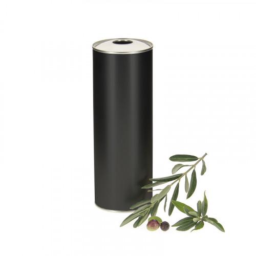 20 bidons metal noir pour huile d'olive 1L
