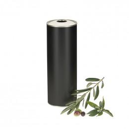 20 bidons metal noir pour huile d'olive 75cl