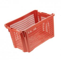 Caisse de récolte ajourée rouge pour fruits & olives 40L