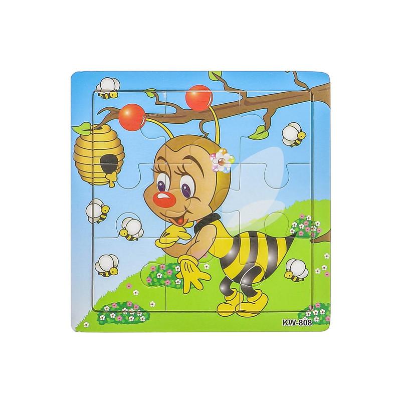Puzzle bois éveil abeille