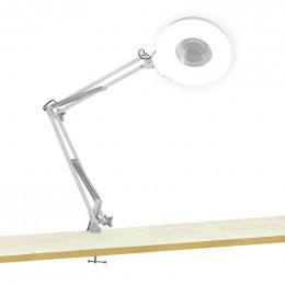 Lampe loupe LED de table à bras pliable
