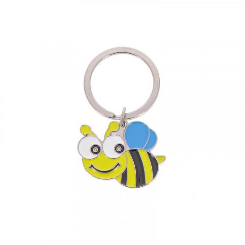 Porte-clés abeille métal