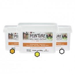 Pack Automnal : 3 pots de peinture (ocre, citron, blanc)