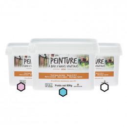 Pack Pastel : 3 pots de peinture (framboise, azur, blanc)