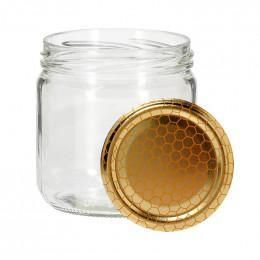 6 pots verre bas 500g (390 ml) avec couvercle TO 82