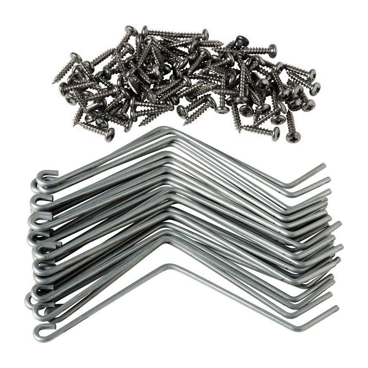 30 Fixe-éléments Inox avec vis