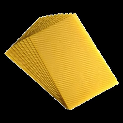 """10 feuilles de cire d'abeille gaufrées """"Sélection"""" pour Alsacienne Haute"""