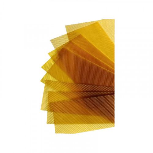 """5 kg de feuilles de cire d'abeille gaufrées """"Sélection"""" pour Corps Dadant"""