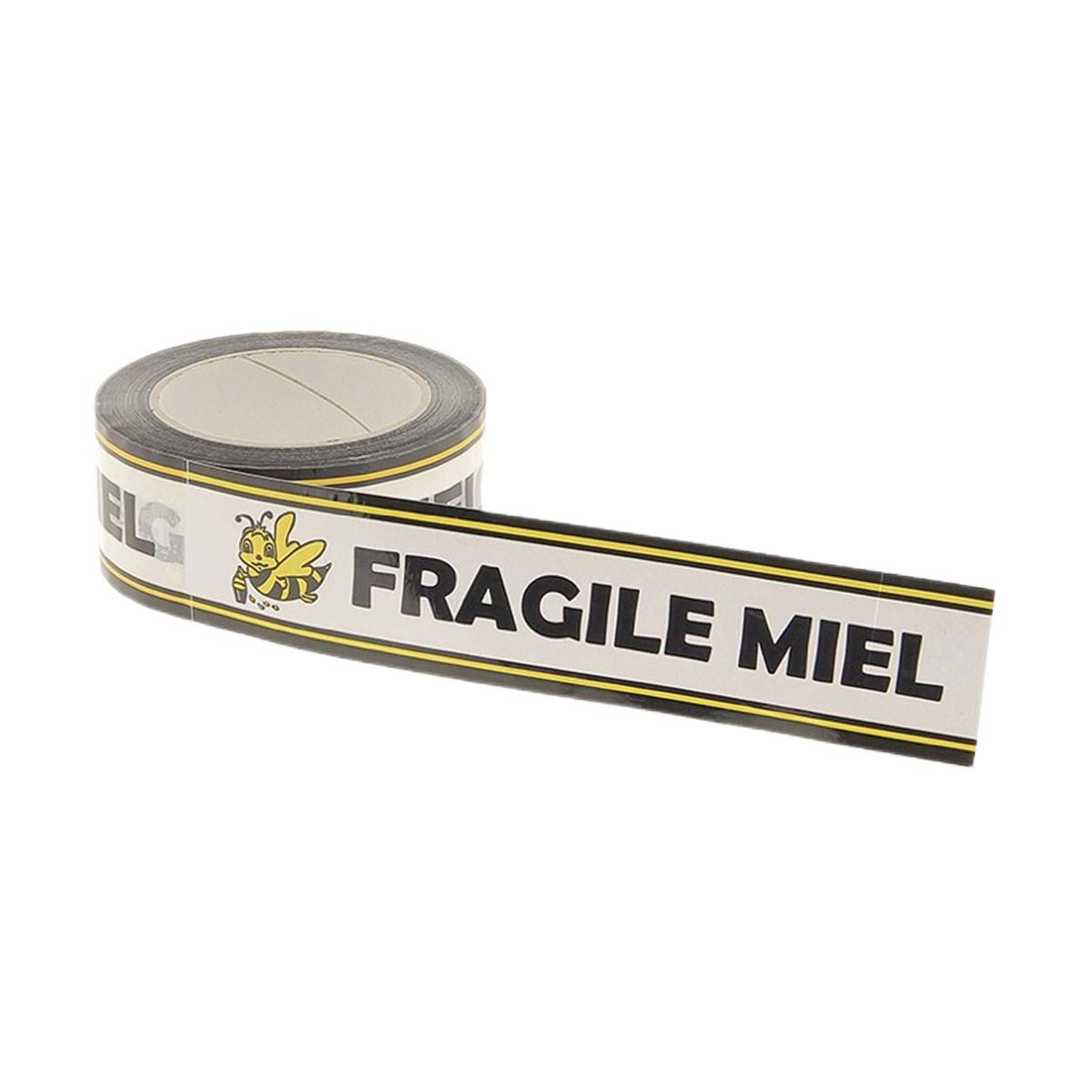 Rouleau d'adhésif Miel Fragile