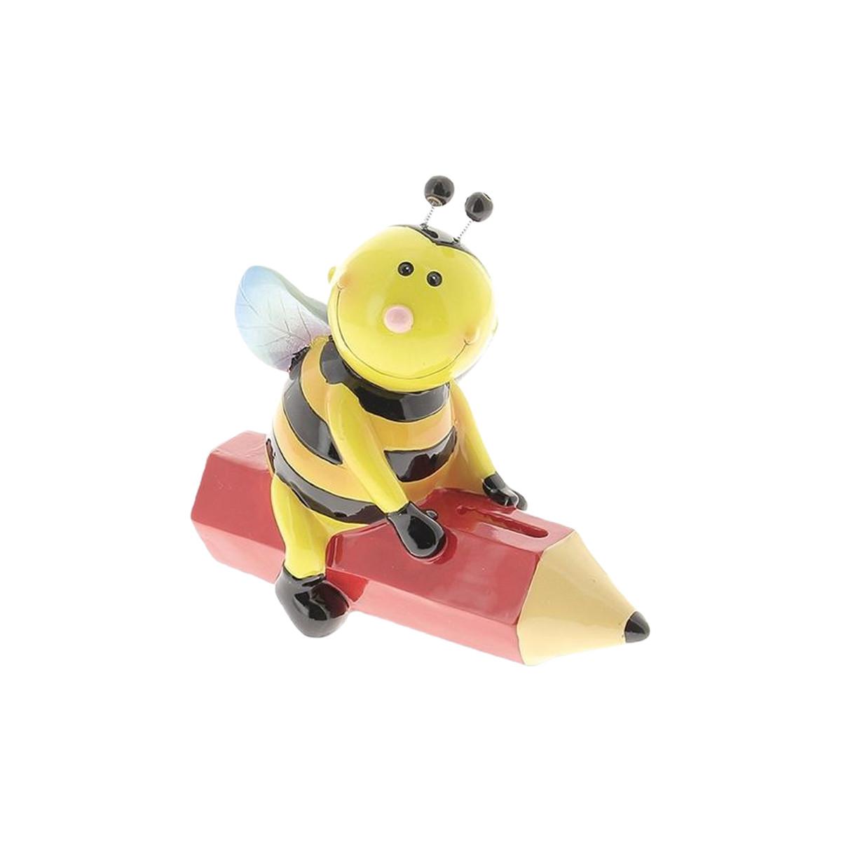 Tirelire abeille sur crayon
