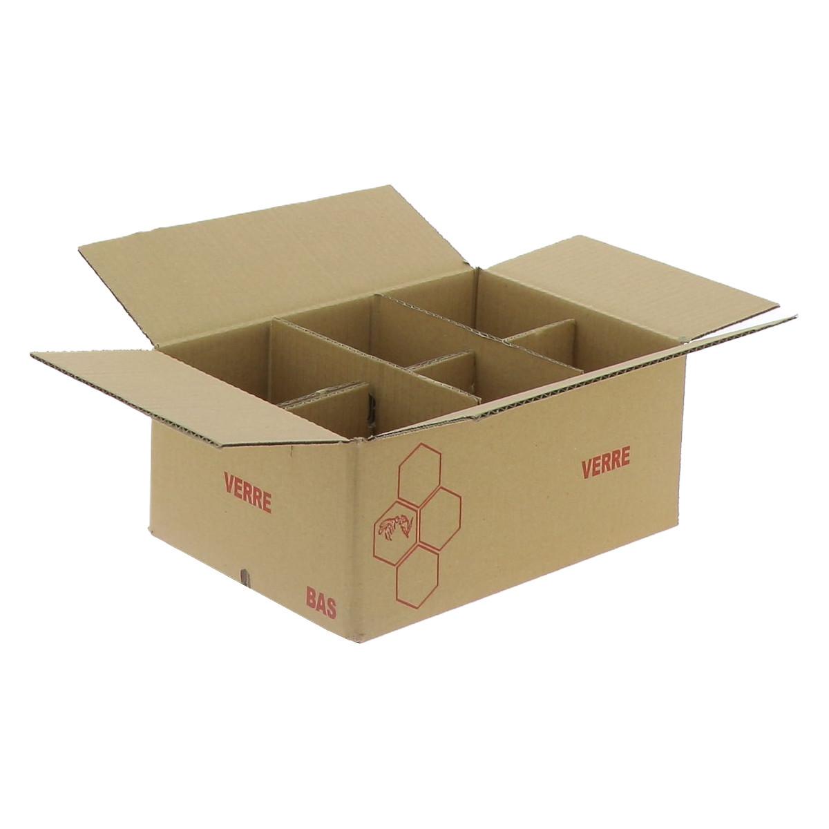 Carton pour 6 pots verre...