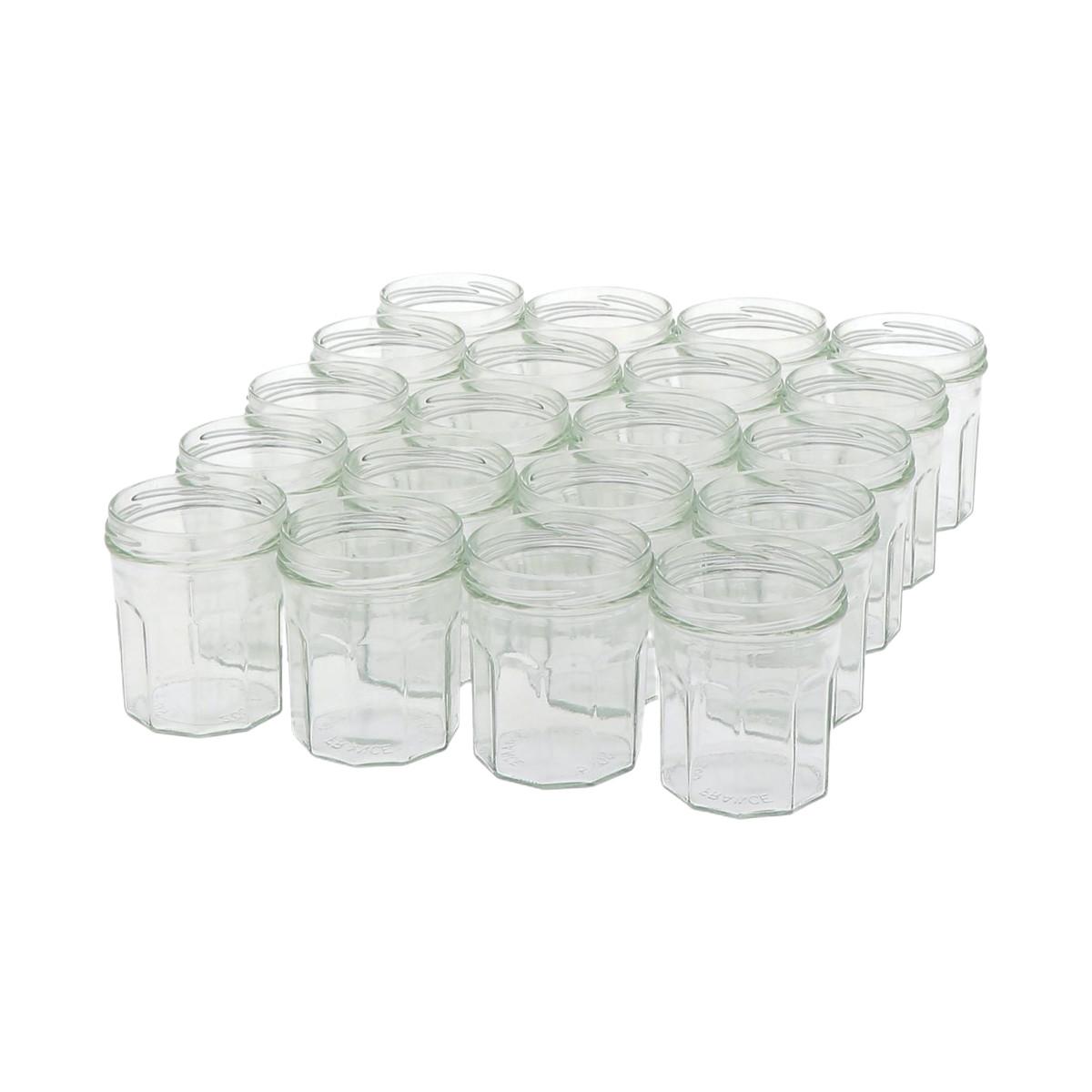 20 pots verre facettes 250...