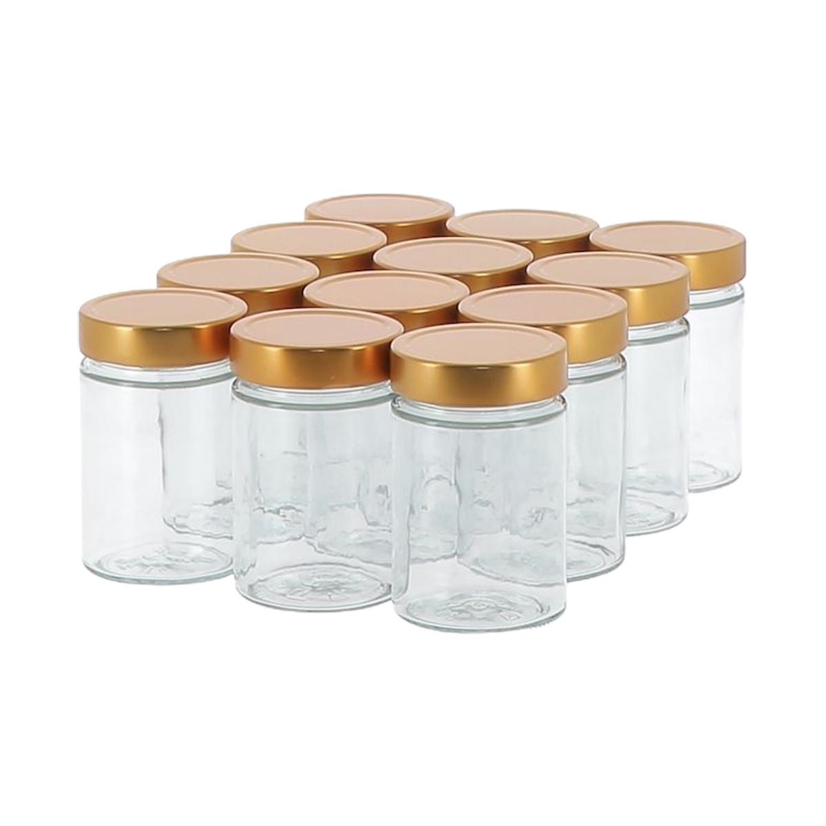 12 pots verre 500g Modernes...